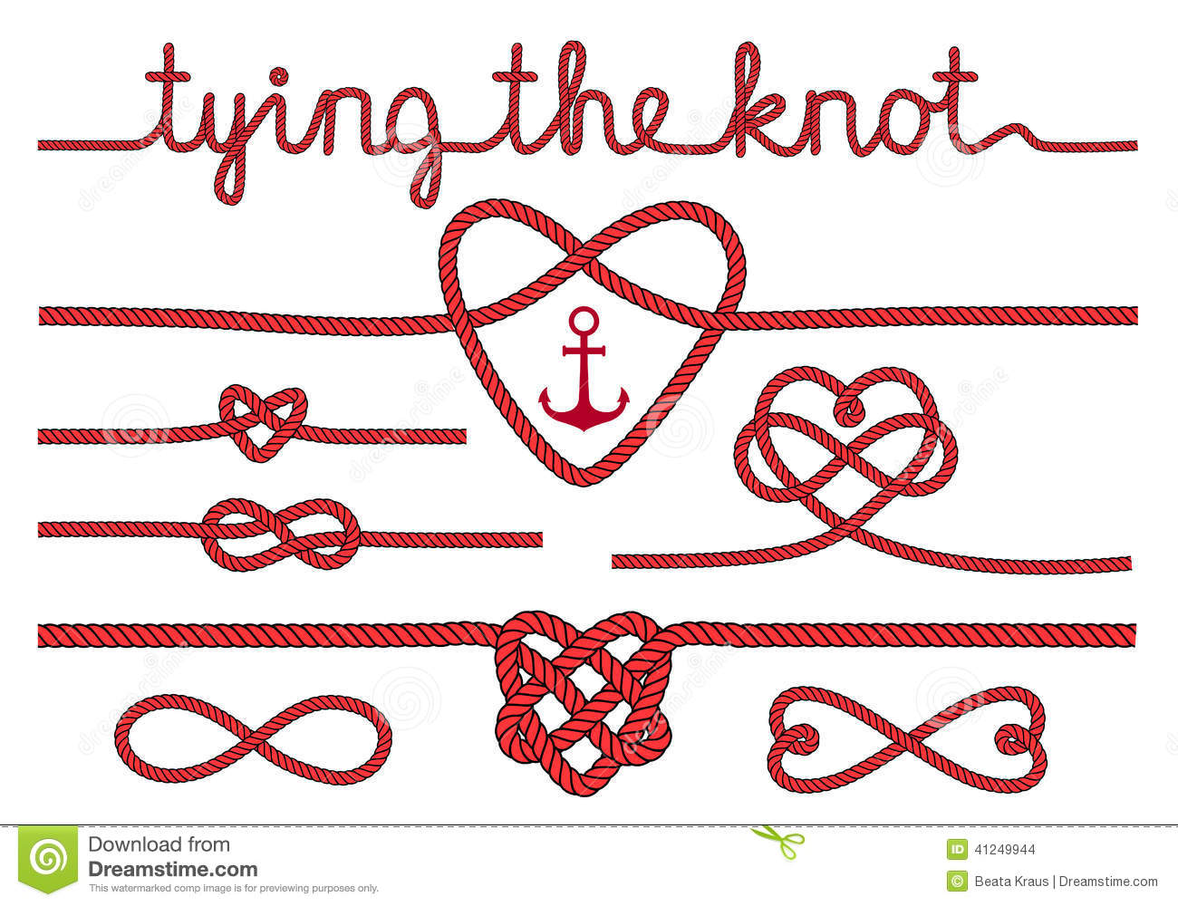 Love knot clipart.