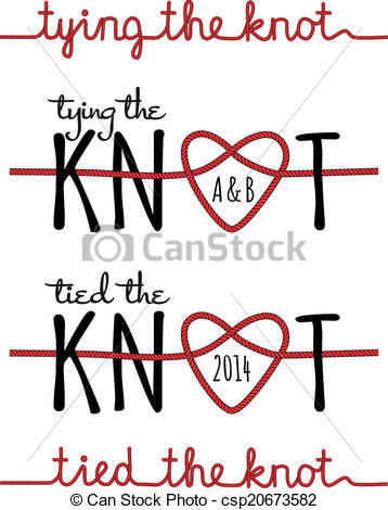 Tie knot clipart #2