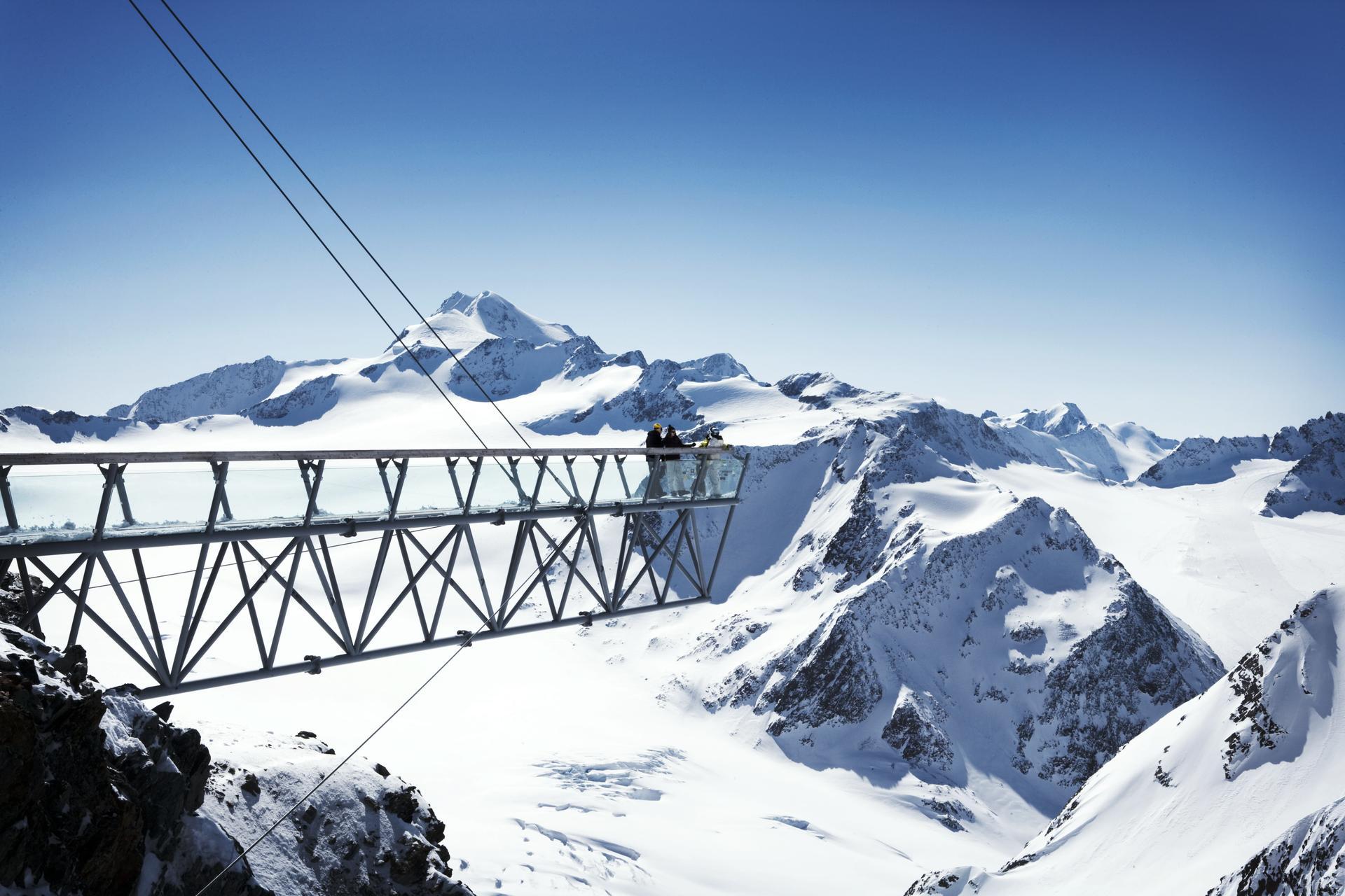 Sölden Ski Trail Map.