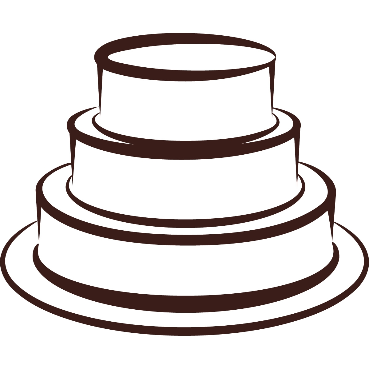 Tiered Cake Clipart.