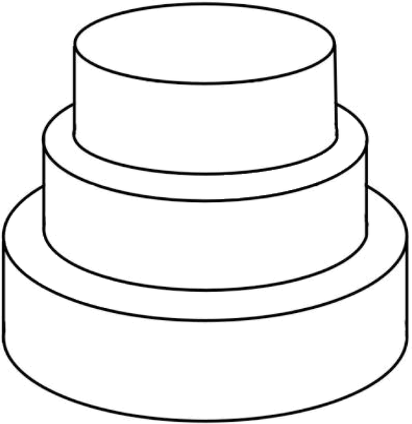 Three Tiered Cake.
