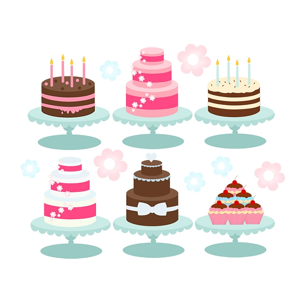 clip art tiered cake.