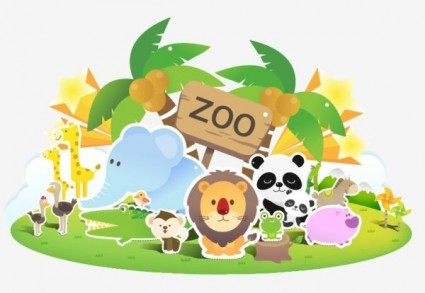 Showing post & media for Cartoon zoo clip art.