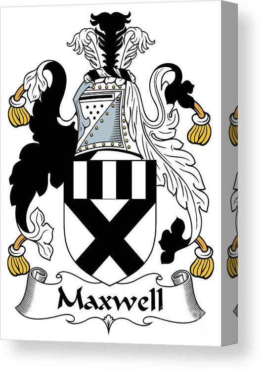 Maxwell Coat Of Arms Irish Canvas Print.