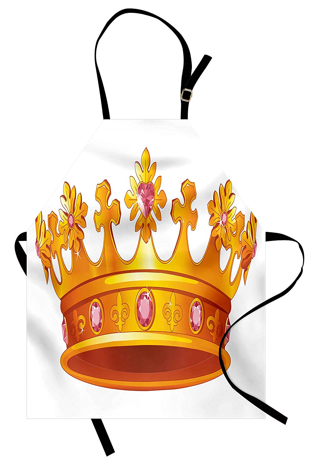 Amazon.com: Ambesonne Queen Apron, Crown with Pale Pink.