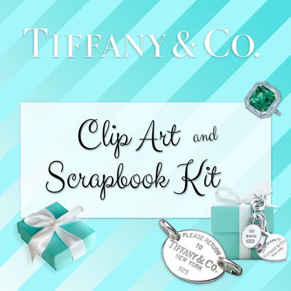 Breakfast at Tiffany's Party Vector Clipart.