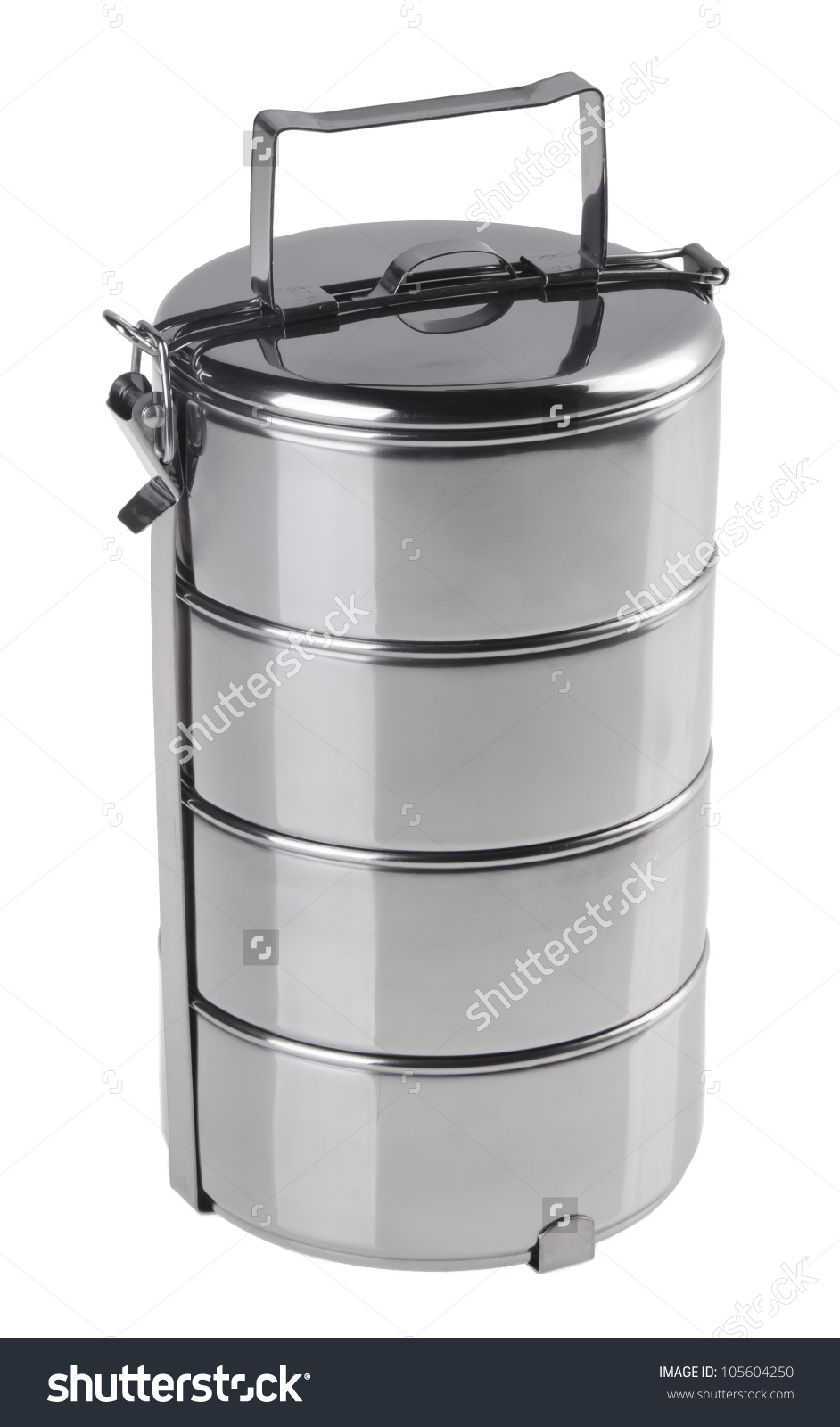 Metal Tiffin Food Container On White Stock Photo 105604250.