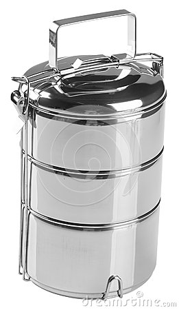 Food Container Tiffin, Food Container On Background. Stock Images.