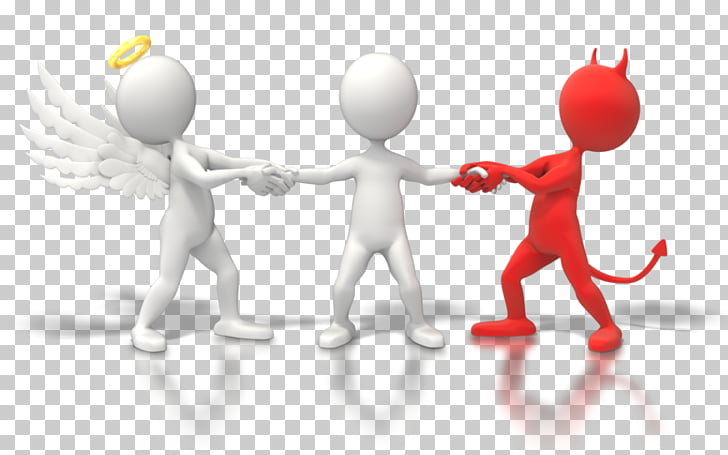 Good and evil Ethics Habit, tug of war PNG clipart.