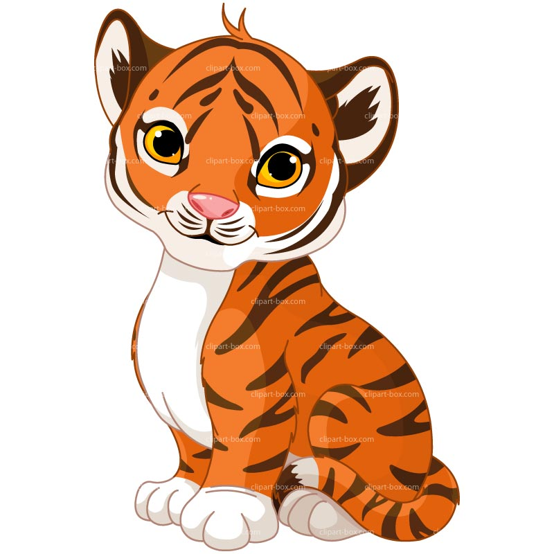 Baby Tiger Clipart.