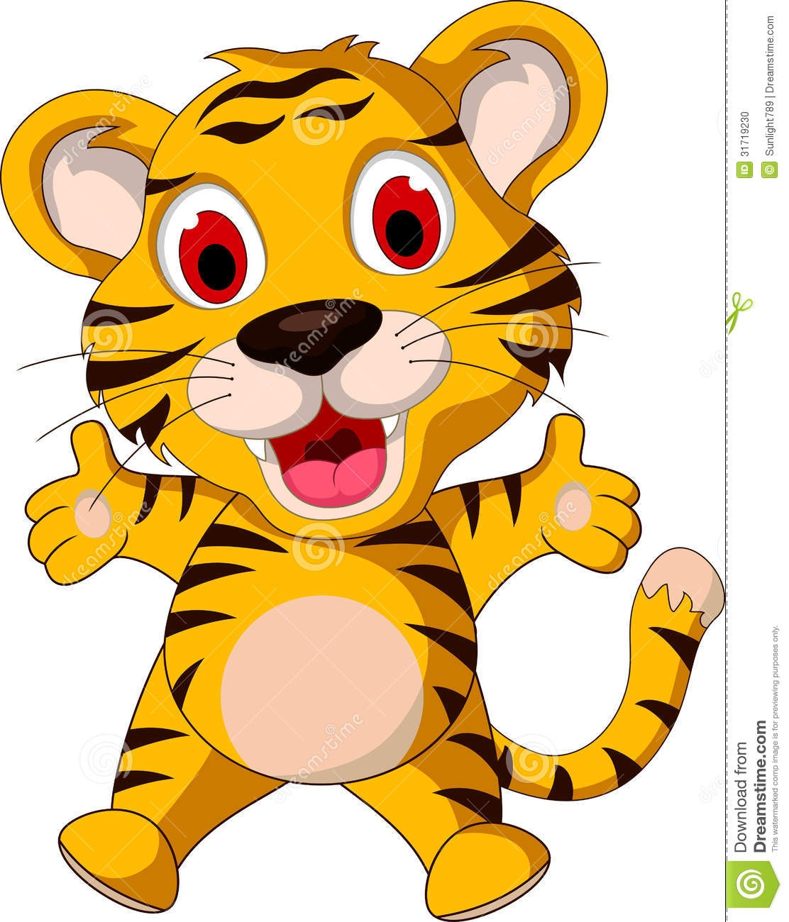 Tiger mother baby clipart.