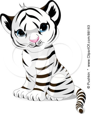 Baby Tiger Face Clip Art.