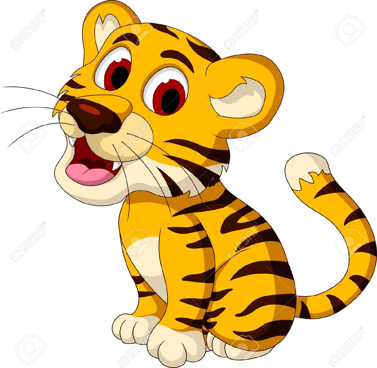 Free clipart baby tiger silhouette.