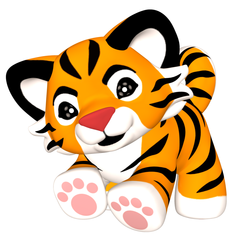 Tiger baby clipart.