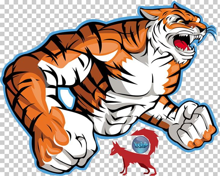 Bengal tiger Logo , Tiger Art, tiger illustration PNG.