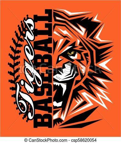 tigers baseball Vector.