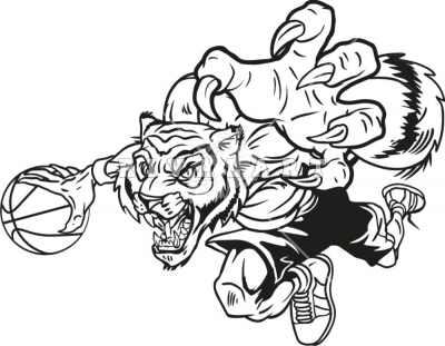 Tiger Basketball Clipart Black And White.