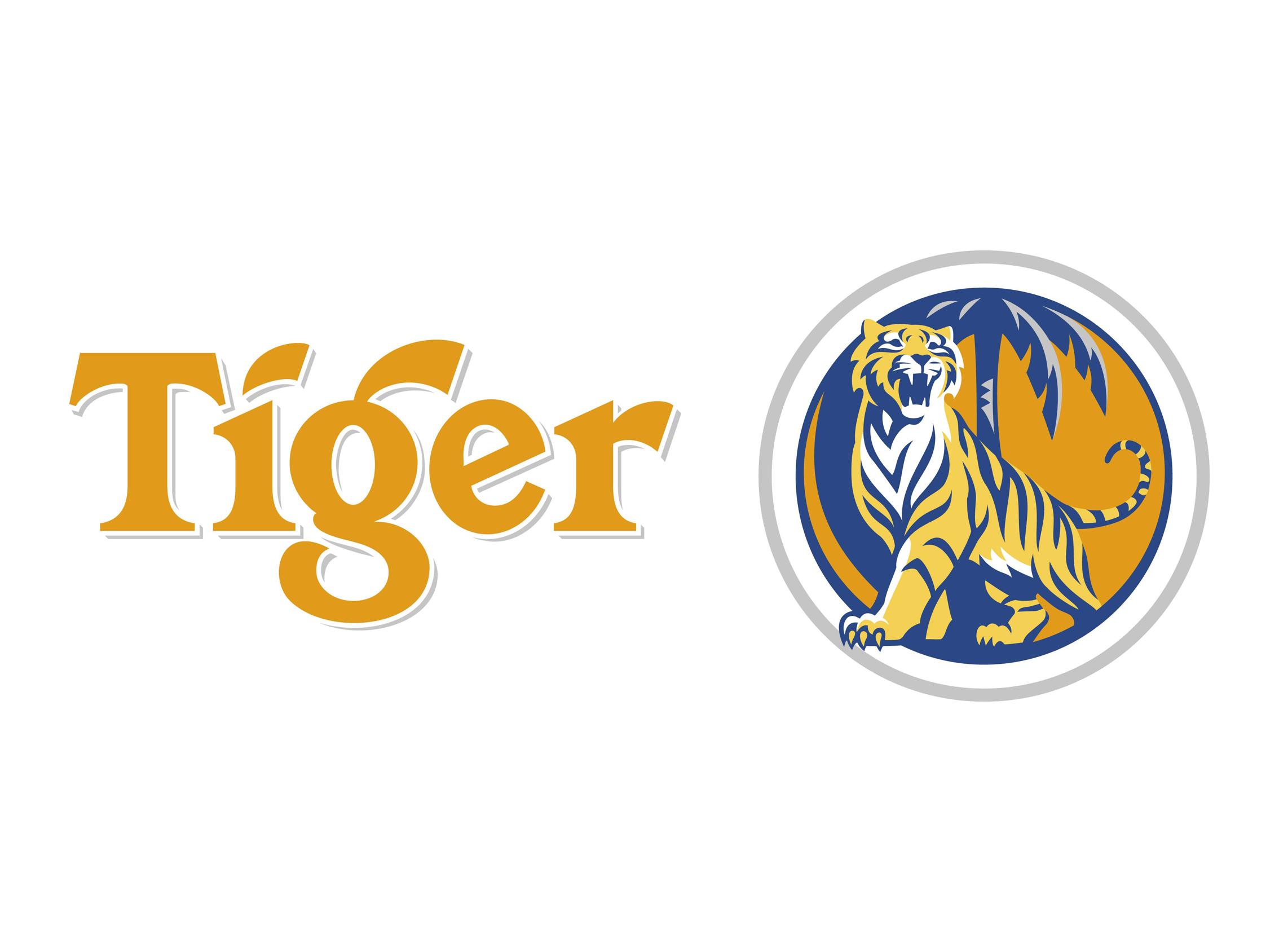 Tiger beer logo.