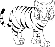 56+ Black And White Tiger Clipart.