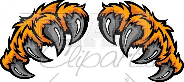 Tiger Claws Clipart Cartoon Image..