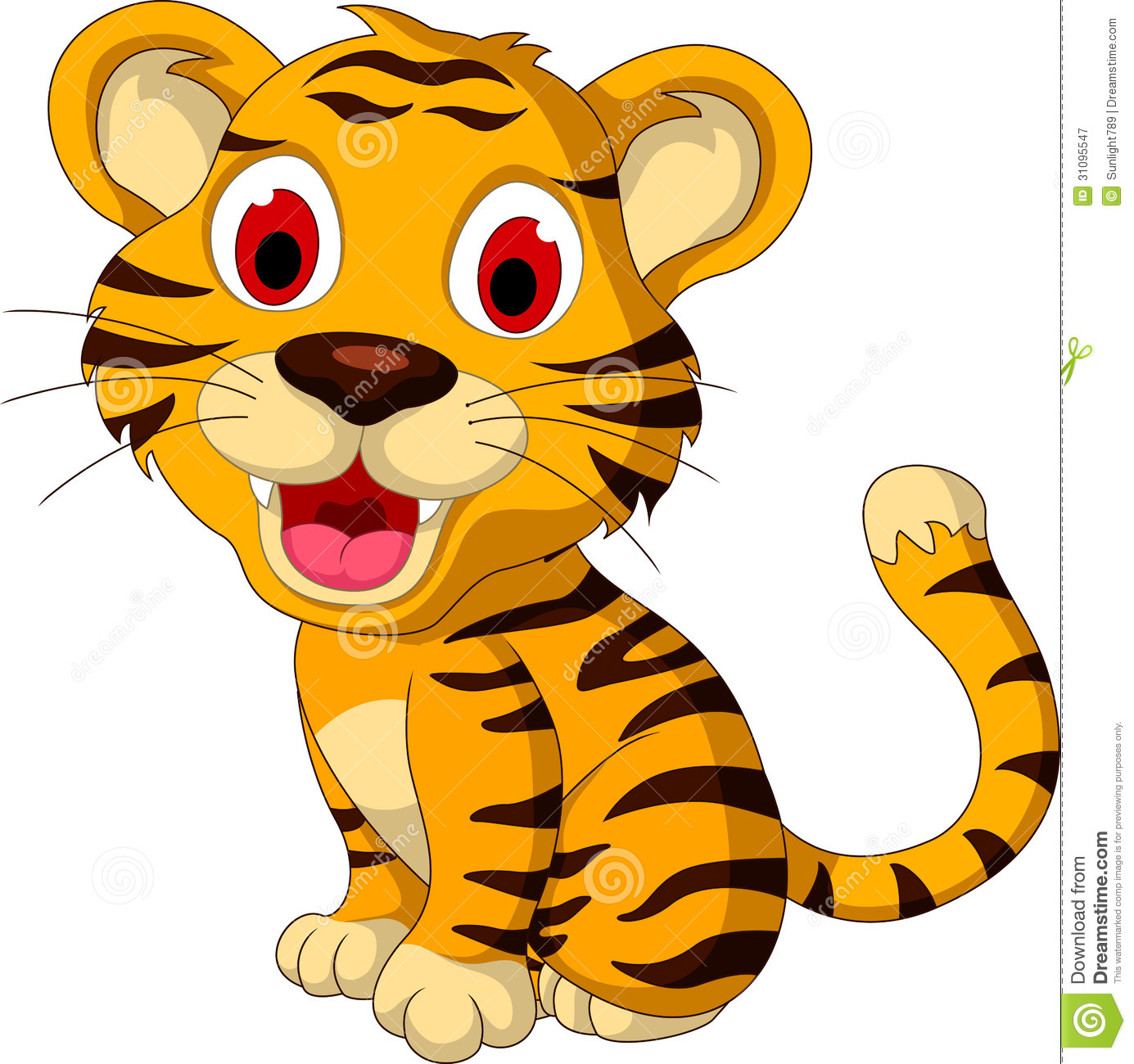 Cute tiger clip art