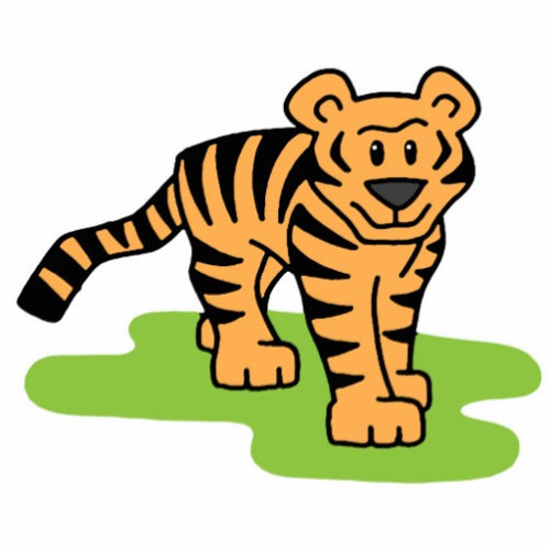 Baby tiger clipart 6 image #17793.