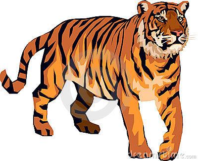 Cartoon tiger clipart kid.