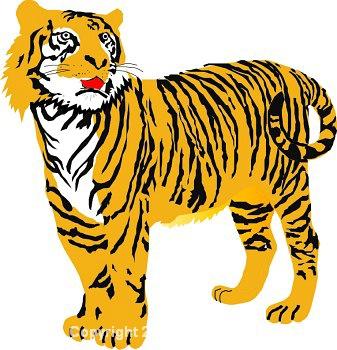 Tiger clip art for kids clipart 2.