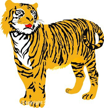 Tiger transparent clipart kid 4.