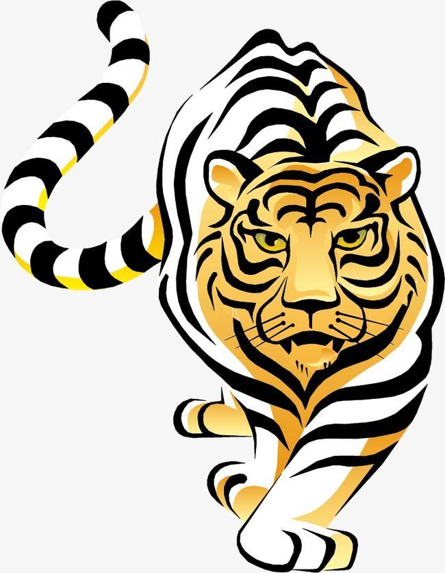Hand Painted Tiger Vector Material, Tiger Vector, Tiger.