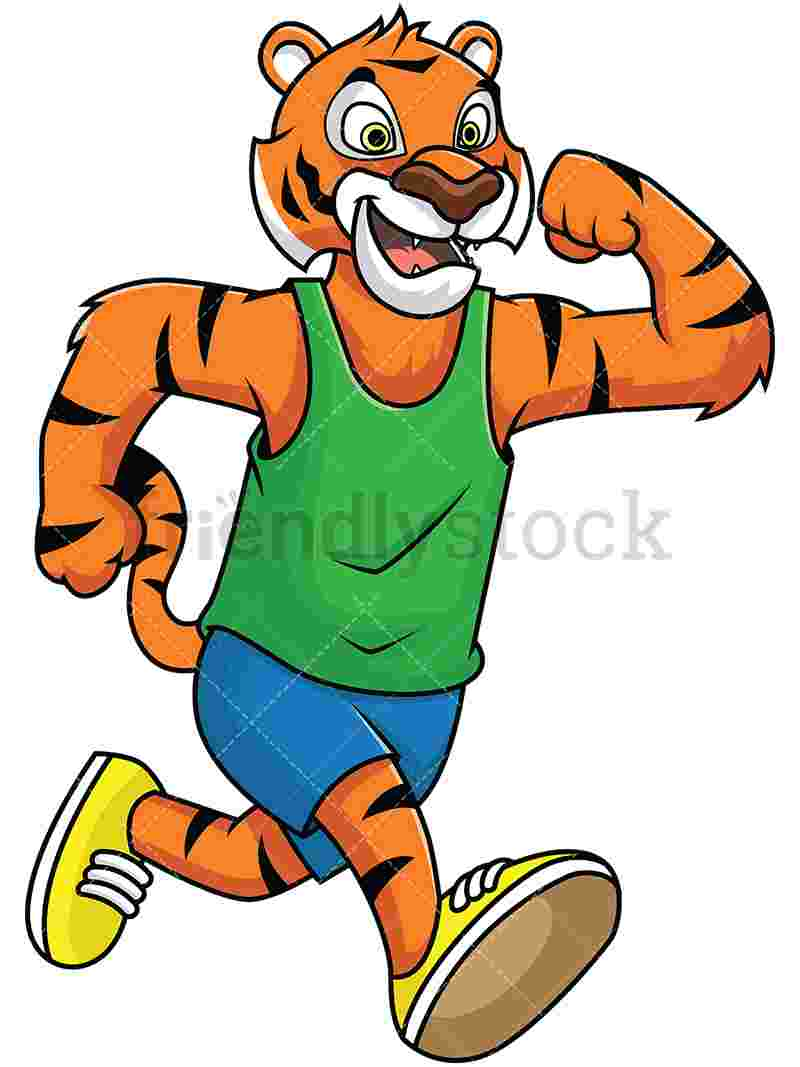 Best Cliparts: Tiger Playing Sports Clipart Black Soccer.