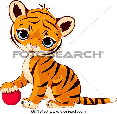 Tiger cub Clipart and Illustration. 520 tiger cub clip art vector.
