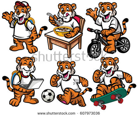 Tiger Eating Stock Vectors, Images & Vector Art.