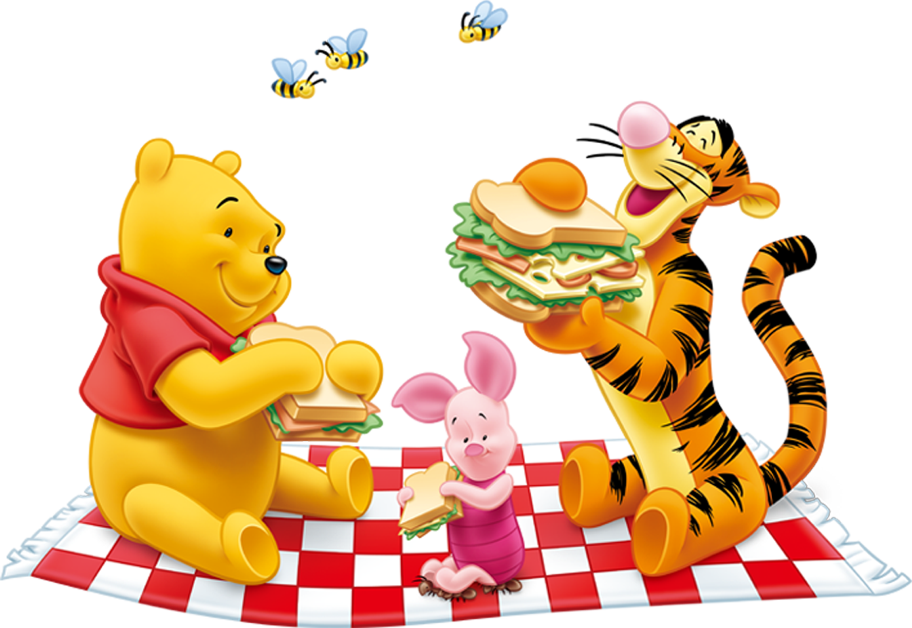 Winnie the Pooh and Tiger PNG Free Clipart.