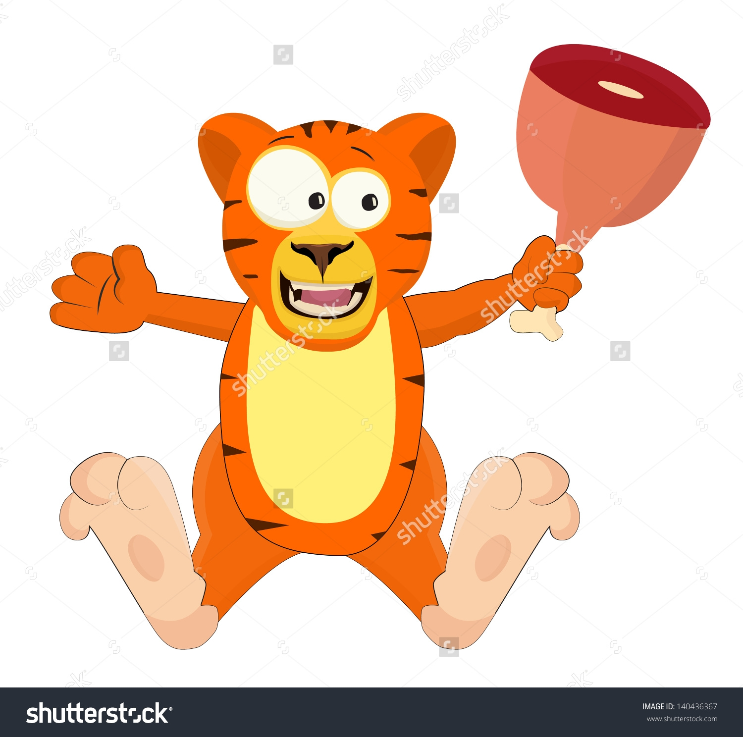 Tiger Eating Clipart.