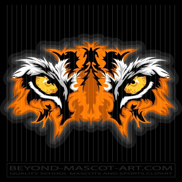 Graphic Tiger Eyes Clipart Design.