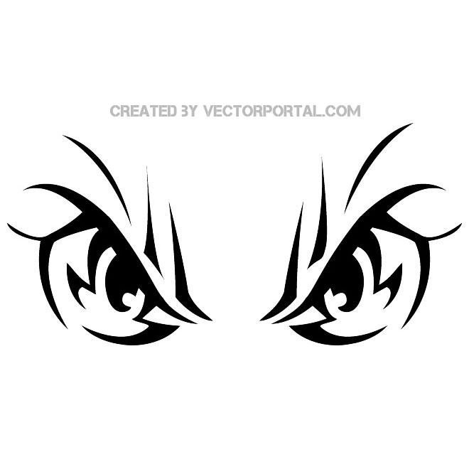 Tiger Eyes Vector.