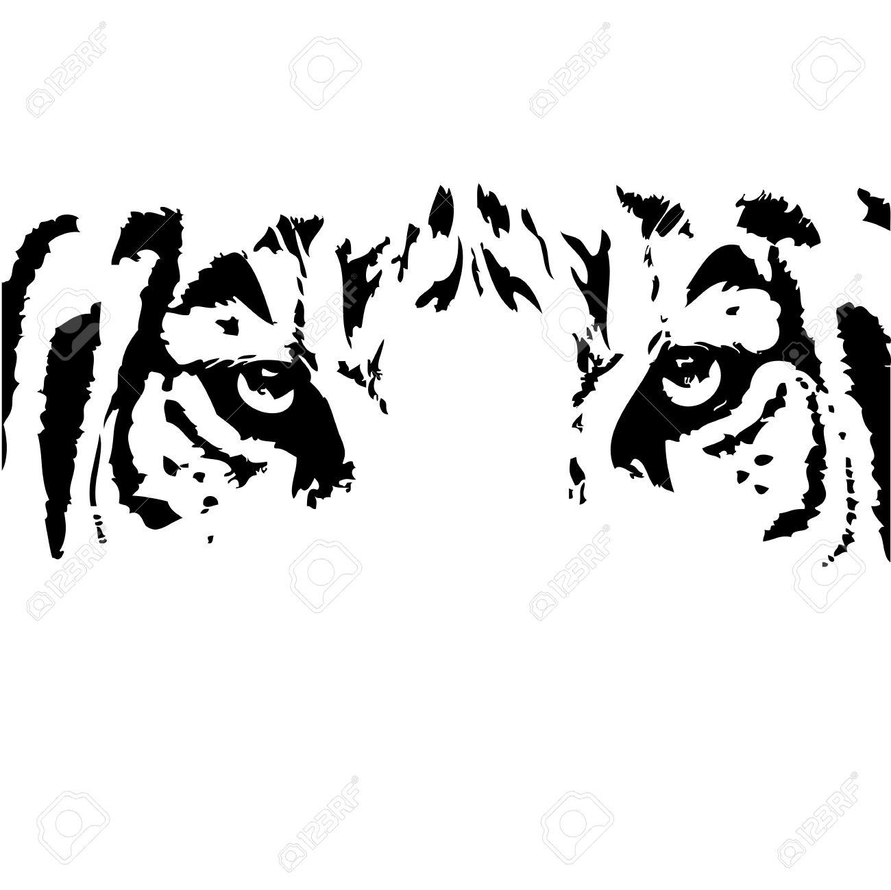Eyes clip art black and white