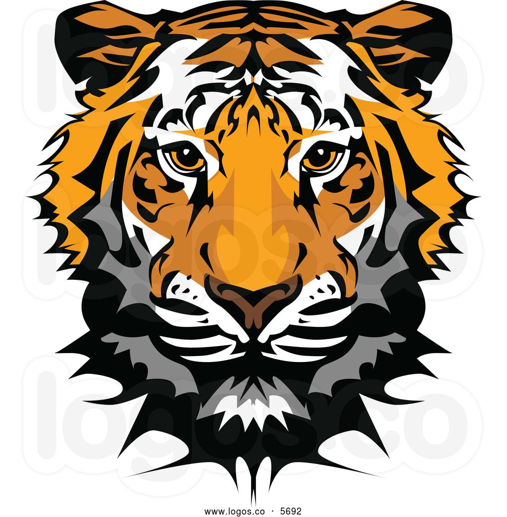 93+ Tiger Head Clipart.