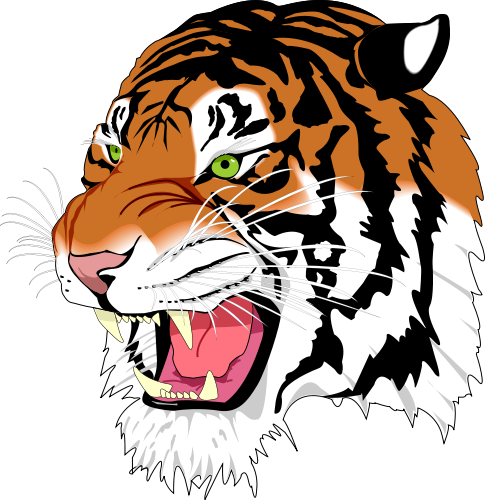 for a tiger face clip art.