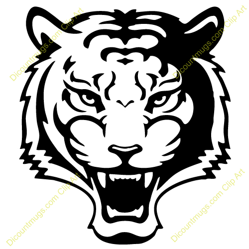Cute Tiger Face Clip Art.