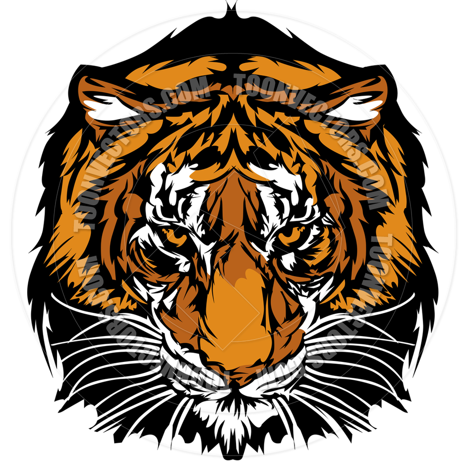 Tiger Face Clip Art.