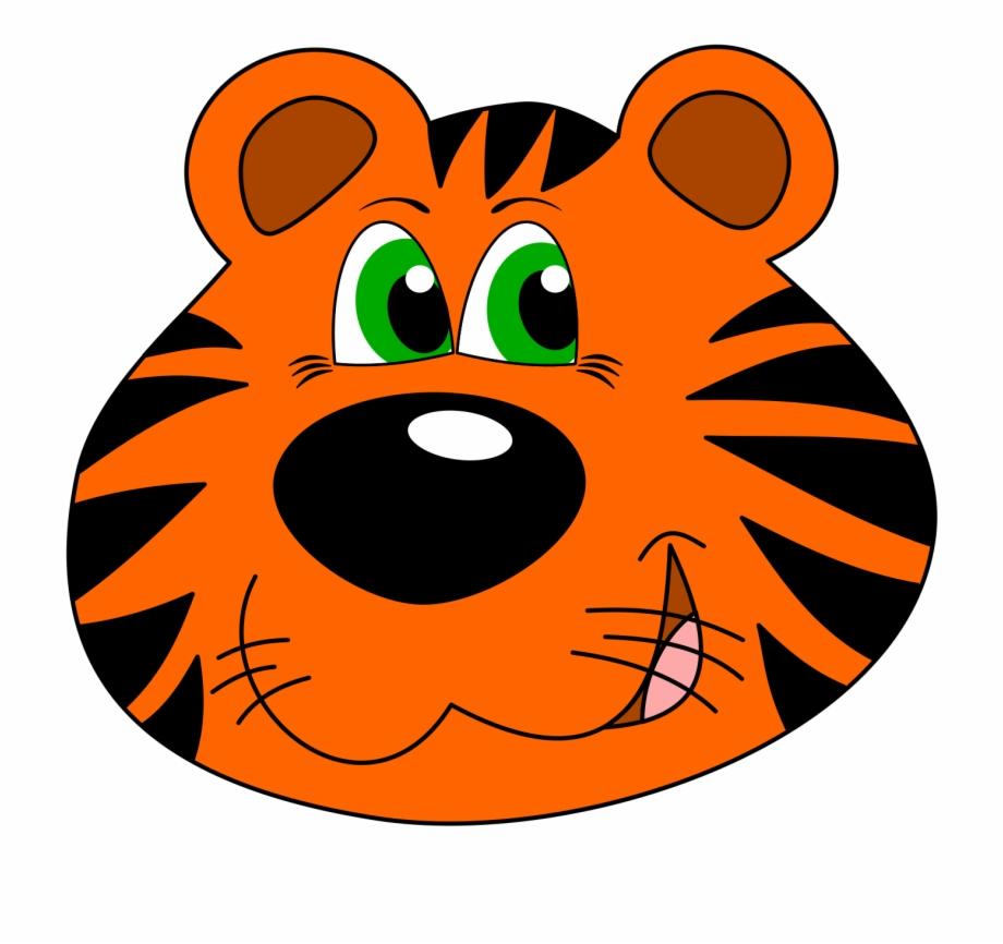 Animal Cartoon Cute Tiger Png Image.