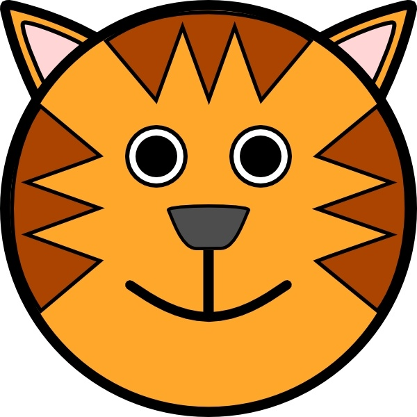 Tiger Face clip art Free vector in Open office drawing svg.
