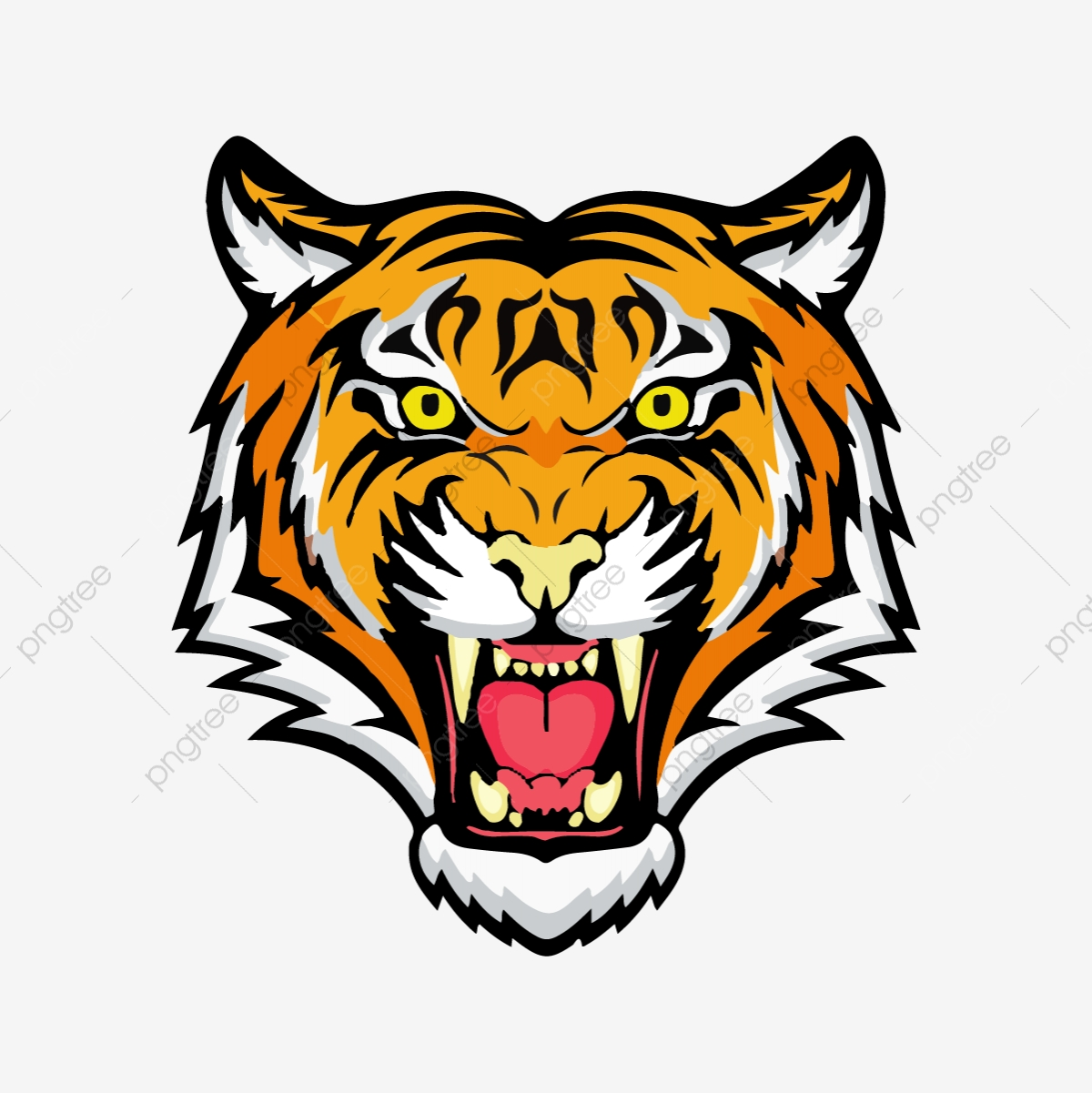 Tiger Head, Tiger, Royal PNG and Vector with Transparent.