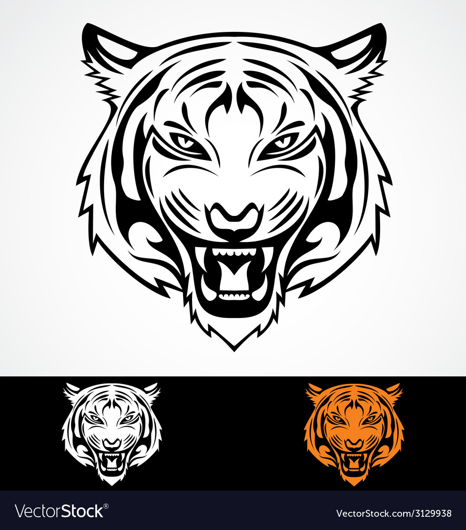 Angry Tiger Face.
