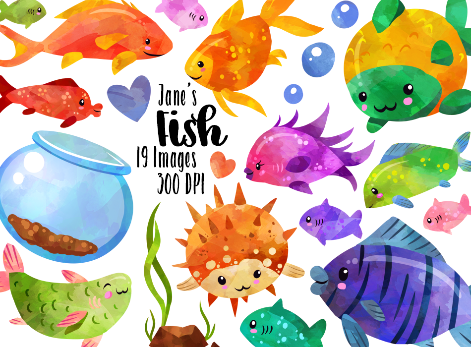 Tropical Fish Graphics Set in 2019.