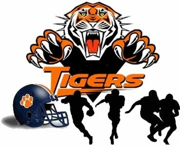 Tiger Claw Football Clipart.