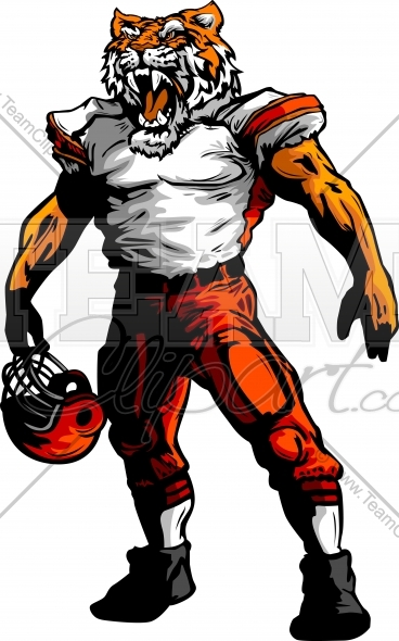 Tiger Football Clipart Image. Easy to Edit Vector Format..