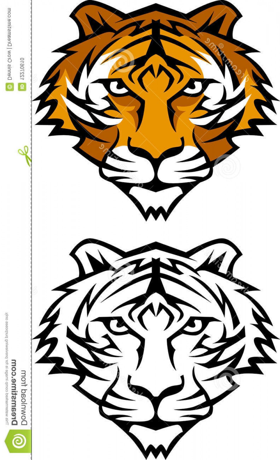 Hd Tiger Eyes Vector Picture.